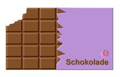 czekoladowa niemcy ilustracja wektor