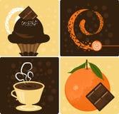 czekoladowa pomarańcze Zdjęcia Stock