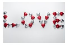 Czekoladowa słodka walentynka dnia miłość Fotografia Stock