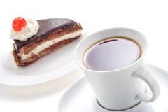 czekoladowa tortowa kawy Obrazy Royalty Free