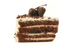 czekoladowa tortowa śmietany Zdjęcia Royalty Free