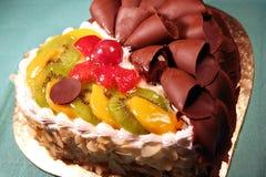czekoladowa tortowa owoców Fotografia Stock