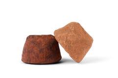 Czekoladowa trufla z organicznie cacao Zdjęcia Stock