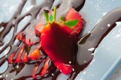 czekoladowa truskawka Zdjęcia Royalty Free
