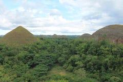Czekoladowa wzgórza bohol wyspa Philippines Zdjęcia Royalty Free