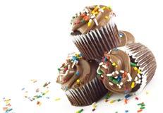 czekoladowe babeczki Obrazy Royalty Free
