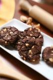 czekoladowe ciasteczka domowej roboty Fotografia Royalty Free