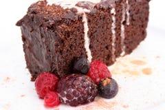czekoladowe ciasto błota fotografia stock