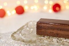 czekoladowe ciasto ciemności Obrazy Stock