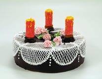czekoladowe ciasto ciemności Obrazy Royalty Free