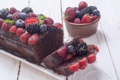 czekoladowe ciasto domowej roboty Obrazy Stock