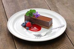 czekoladowe ciasto domowej roboty Fotografia Royalty Free