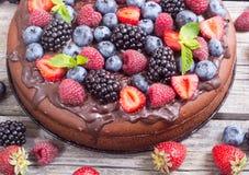 czekoladowe ciasto domowej roboty Zdjęcia Stock