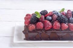 czekoladowe ciasto domowej roboty Obrazy Royalty Free