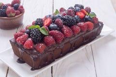 czekoladowe ciasto domowej roboty Zdjęcie Royalty Free