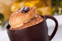 czekoladowe ciasto kubki tiramisu Obraz Royalty Free
