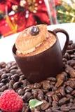 czekoladowe ciasto kubki tiramisu Zdjęcie Royalty Free