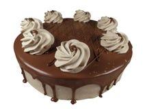 czekoladowe ciasto round Zdjęcia Stock
