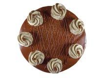 czekoladowe ciasto round Obraz Stock