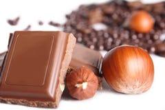 czekoladowe dokrętki Zdjęcia Royalty Free