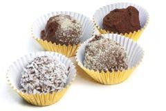 czekoladowe domowej roboty trufle Zdjęcia Royalty Free