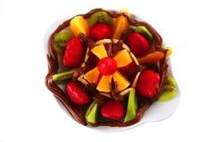 czekoladowe egzotyczne owoc Zdjęcie Stock