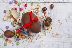 czekoladowe jaja przedmiot odizolowane Wielkanoc Zdjęcia Royalty Free