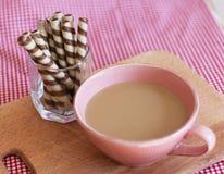 czekoladowe kawowe tubki fotografia royalty free