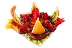 czekoladowe kremowe egzotyczne owoc Fotografia Stock