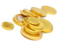 czekoladowe monety Obrazy Royalty Free
