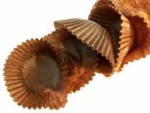 czekoladowe opakowania Zdjęcia Stock