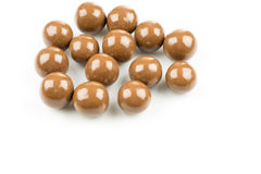 Czekoladowe piłki na białym tle Fotografia Royalty Free