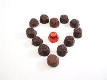 czekoladowe serca Obrazy Stock