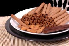czekoladowe viennese opłatki Fotografia Royalty Free