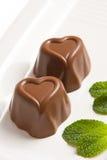 czekoladowe w kształcie serca Zdjęcie Royalty Free