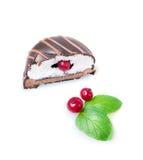 czekoladowego ciastka odosobniony biel Obraz Royalty Free