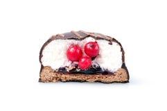 czekoladowego ciastka odosobniony biel Fotografia Royalty Free