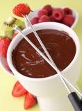czekoladowego fondue smakosz Fotografia Royalty Free