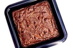 Czekoladowego Fudge plasterek Fotografia Stock