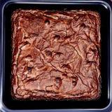 Czekoladowego Fudge plasterek Zdjęcia Stock
