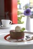 czekoladowego mousse malinka Zdjęcie Stock
