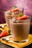 czekoladowego mousse pudding Zdjęcie Royalty Free