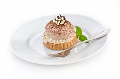 czekoladowego mousse tarta Zdjęcie Royalty Free