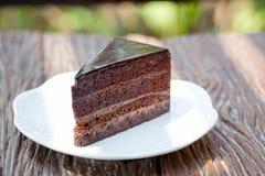 Czekoladowego Mousse tort Zdjęcia Royalty Free
