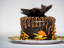 Czekoladowego torta ciasto Fotografia Royalty Free