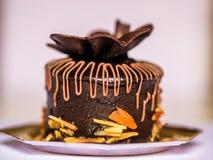 Czekoladowego torta ciasto Zdjęcia Royalty Free
