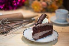 Czekoladowego torta plasterek Fotografia Stock