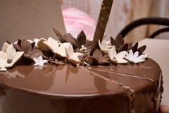 Czekoladowego torta szczegół Fotografia Stock