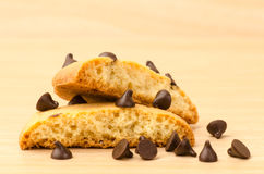 Czekoladowego układ scalony ciastka obraz stock
