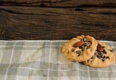Czekoladowego układu scalonego ciastek tło 2 Obraz Royalty Free